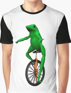 Dat Boi - Unicycle Frog Graphic T-Shirt