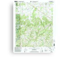 USGS TOPO Map Alabama AL Massey 304508 2000 24000 Canvas Print