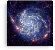 Messier 101 Spiral Galaxy Astronomy Image Canvas Print