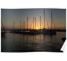 Syracuse Harbour Sunset Poster