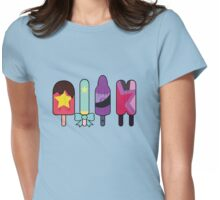 Steven Universe Popsicles--The Crystal Gems Womens Fitted T-Shirt