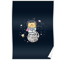 Cat over the moon Poster