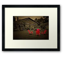 The Red Chairs In Neskowin! Framed Print