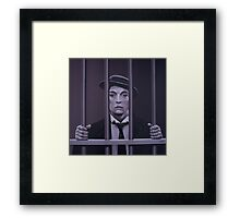 Buster Keaton Painting Framed Print