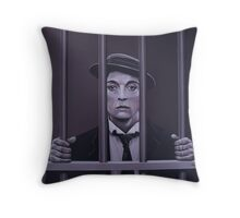 Buster Keaton Painting Throw Pillow