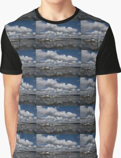 Reflecting on Boats and Clouds - Port Perry Marina Graphic T-Shirt
