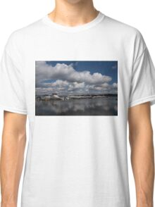 Reflecting on Boats and Clouds - Port Perry Marina Classic T-Shirt