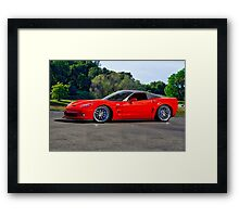 Corvette ZR1 Coupe Framed Print