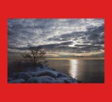 Lakeside Silver – Winter Morning Light Kids Tee