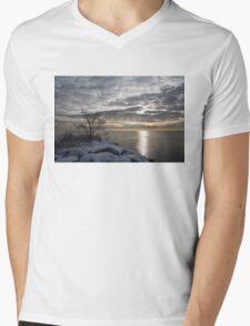 Lakeside Silver – Winter Morning Light Mens V-Neck T-Shirt