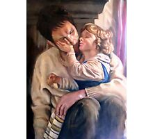 portrait of father and child Photographic Print