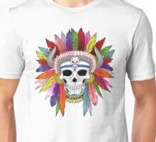 Shamanistic skull Unisex T-Shirt