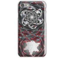 Dark Swirl and Cross Bone Rose iPhone Case/Skin