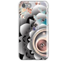 3rd Quarter Moon Hex iPhone Case/Skin