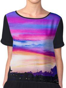 Hampton Beach Sunset Chiffon Top