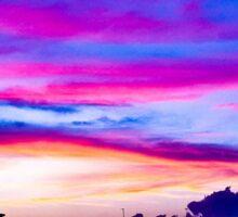 Hampton Beach Sunset Sticker