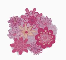 Pink Floral Kids Tee