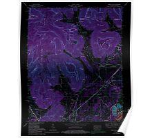 USGS TOPO Map Alabama doran cove al-tn histmap Inverted Poster