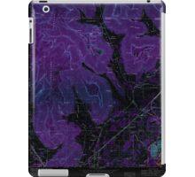 USGS TOPO Map Alabama doran cove al-tn histmap Inverted iPad Case/Skin