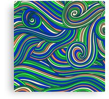 Hallyu waves - Psychedelic blue  Canvas Print