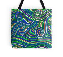 Hallyu waves - Psychedelic blue  Tote Bag