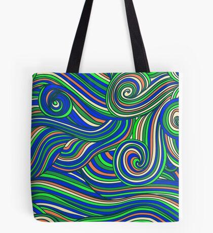 Hallyu waves - Psychedelic blue  Tote Bag