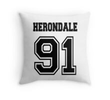 Herondale 91 Black Shadowhunters Throw Pillow