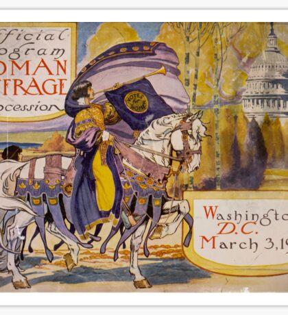 Washington DC Suffrage Procession 1913 Sticker