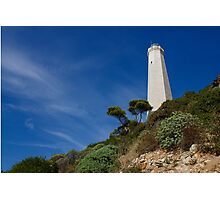 Lighthouse at Saint-Jean-Cap-Ferrat, France, French Riviera Photographic Print