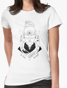 Moon / Death Womens Fitted T-Shirt