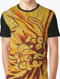 Mesmerizing Golds and Yellows - a Floral Ceramic Tile Mosaic Graphic T-Shirt