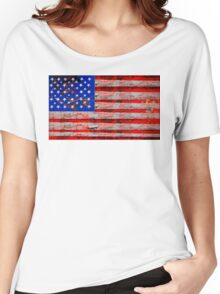 Florida Keys Grunge Stars and Stripes Women's Relaxed Fit T-Shirt