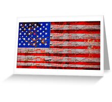 Florida Keys Grunge Stars and Stripes Greeting Card