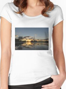 Fire in the Sky - Skyscrapers and the Beaches Marina Women's Fitted Scoop T-Shirt