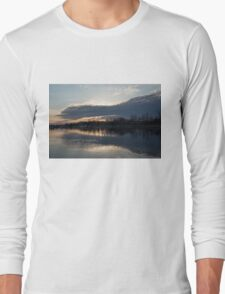 Just Before Sunset - Gray Clouds and Ripples  Long Sleeve T-Shirt