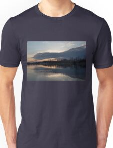 Just Before Sunset - Gray Clouds and Ripples  Unisex T-Shirt