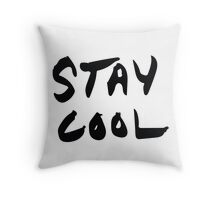 Stay Cool b&w Throw Pillow