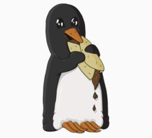 Penguin eating a burrito Baby Tee