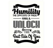 Humility Vintage Typography Shirt Art Print