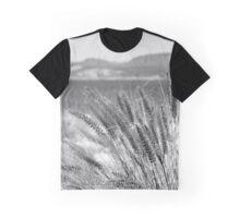 A Lake through the Grass Graphic T-Shirt