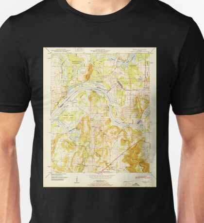 USGS TOPO Map Alabama AL Triana 305235 1951 24000 Unisex T-Shirt