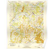USGS TOPO Map Alabama AL Triana 305235 1951 24000 Poster