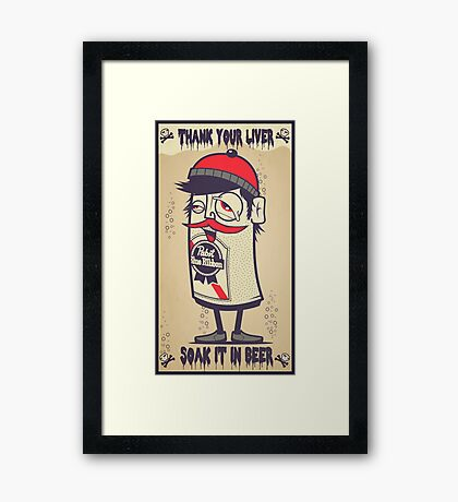 Hip In A Can Framed Print