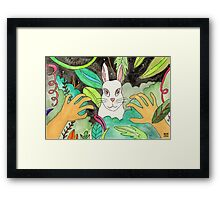 Psychedelic Rabbit Framed Print