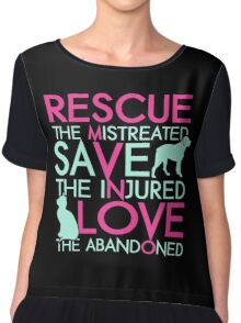 Rescue save love dog and cat Chiffon Top