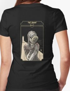 The Moon - Sinking Wasteland Tarot Womens Fitted T-Shirt
