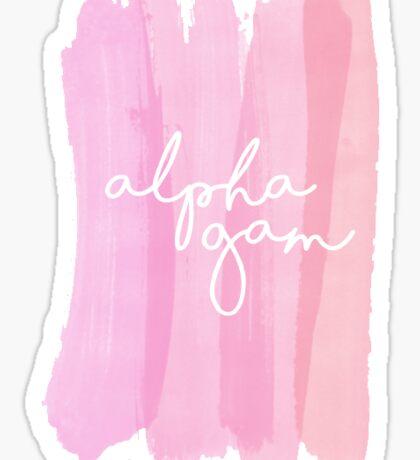 Alpha Gam watercolor Sticker