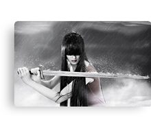 sword warrior girl Canvas Print