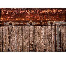 grunge wood panel semi truck Photographic Print