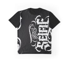 Grunge Tattoo Hand Lettering - Epic Selfie - Black Goth Calligraphy Graphic T-Shirt